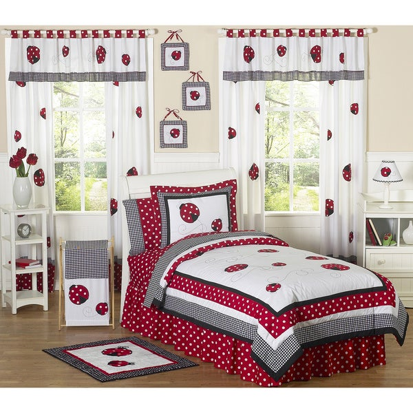Sweet Jojo Designs Girls Ladybug 4 Piece Twin Comforter