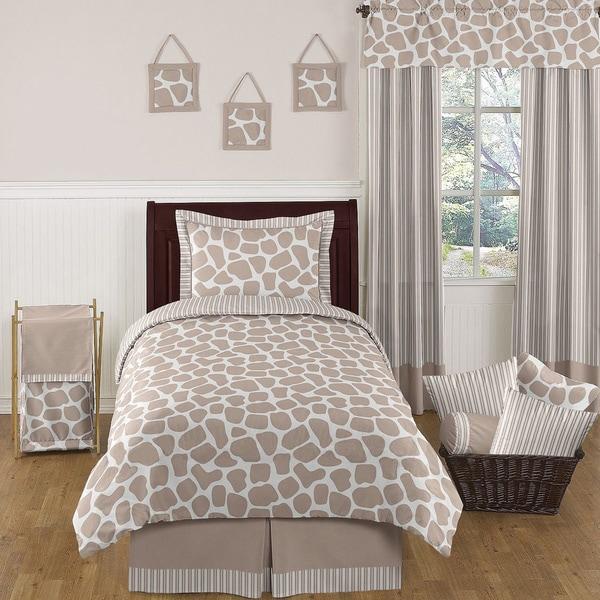 Sweet Jojo Designs Neutral 'Giraffe' 4-piece Twin Comforter Set