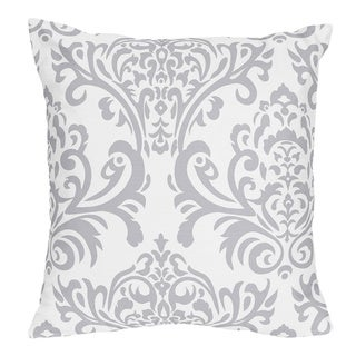 Sweet Jojo Designs Avery Damask Print Decorative Throw Pillow