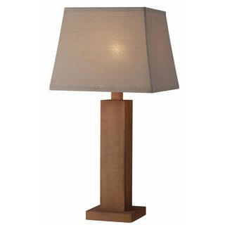 Easton 1-light Teak Outdoor Table Lamp