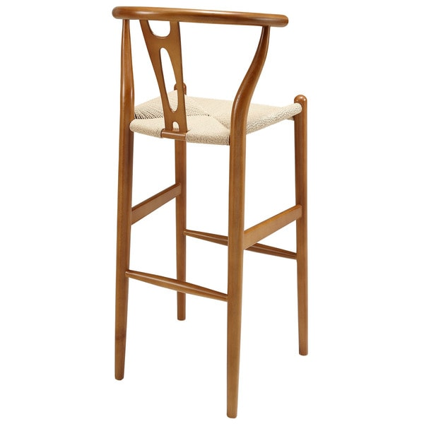Hourglass Beechwood Bar Stool - Free Shipping Today - Overstock.com - 15952241  sc 1 st  Overstock.com : beech wood bar stools - islam-shia.org