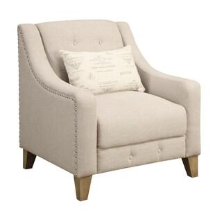 Georgina Beige Accent Chair
