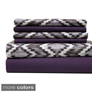 Amraupur Overseas Texture Printed and Solid 6-piece Sheet Set