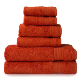 HygroSoft by Welspun 6-piece Towel Set (Option: orange flush)