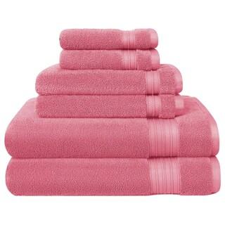 HygroSoft by Welspun 6-piece Towel Set (Option: Dusty Rose)
