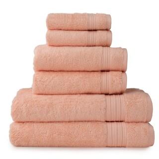 HygroSoft by Welspun 6-piece Towel Set (Option: Peach)