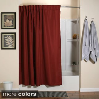 Aulaea Infinity Collection of Shower Curtains with Integrated ...