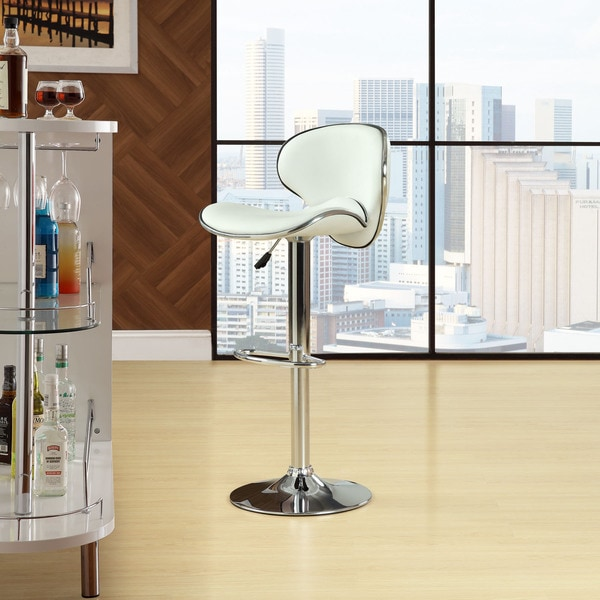 Saddleback White Bar Stool