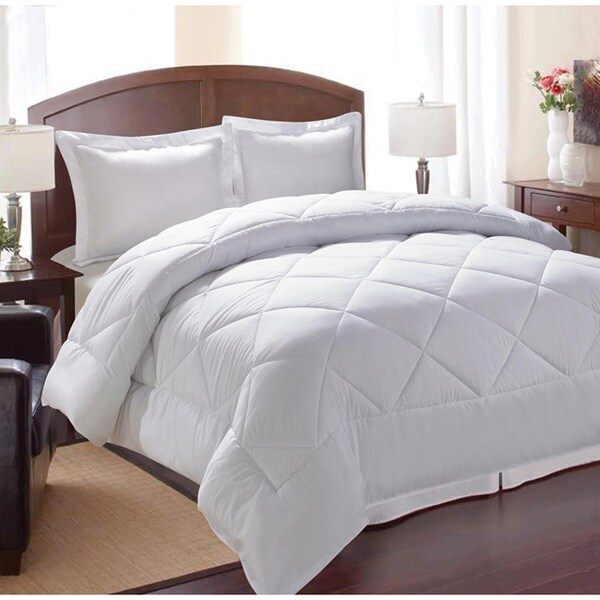 shop all occasions down alternative white diamond 3 piece comforter set free shipping today. Black Bedroom Furniture Sets. Home Design Ideas
