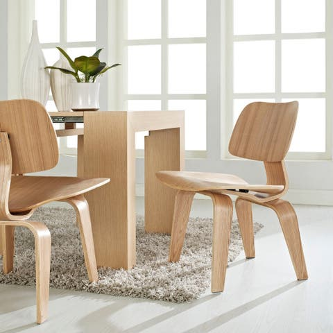 Walnut Molded Dining Chair