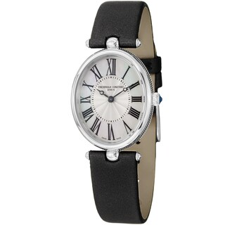 Link to Frederique Constant Women's  'Art Deco' Black Satin Strap Watch Similar Items in Women's Watches