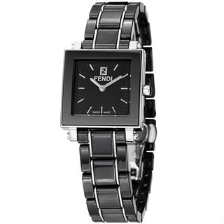 Fendi Women's F621210 'Ceramic' Black Dial Black Bracelet Quartz Watch