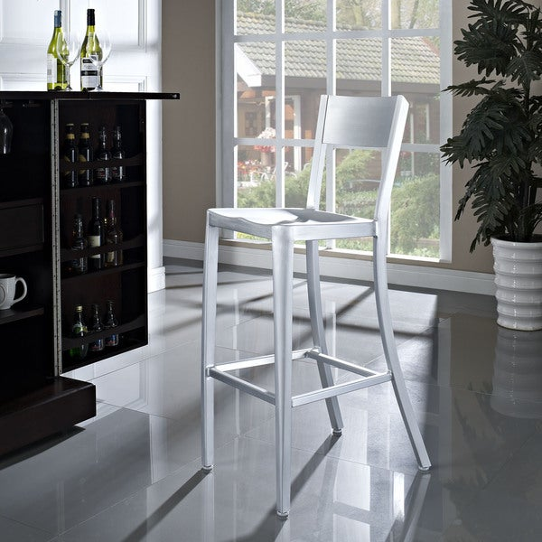 Milan Anodized Aluminum Outdoor Bar Stool Free Shipping