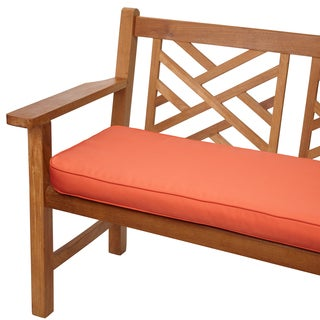 Melon Corded Indoor/ Outdoor 48-inch Bench Cushion with Sunbrella Fabric