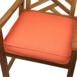 Melon Indoor/ Outdoor 20-inch Chair Cushion with Sunbrella Fabric