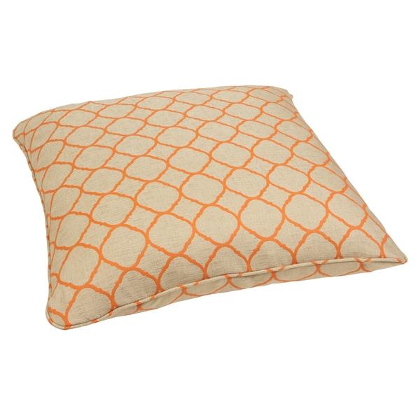 Moroccan Orange 26-inch Square Indoor/ Outdoor Floor Pillow with ...