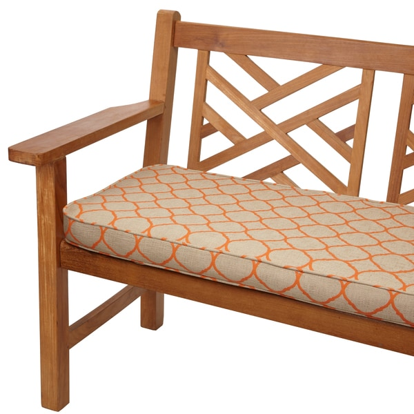 moroccan orange 60inch bench cushion with sunbrella fabric - Sunbrella Fabric