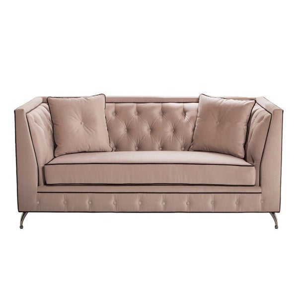 World Market Furniture Reviews: Shop Inncdesign Bella Mid-century Tufted Loveseat