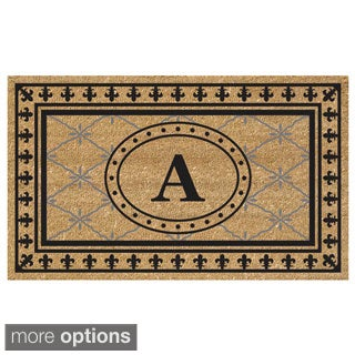 SuperScraper Coir Fiber Monogrammed Bungalow Design Doormat (More options available)