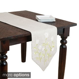 Ribbon Embroidered Floral Table Linen