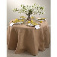 Round Burlap Tablecloth