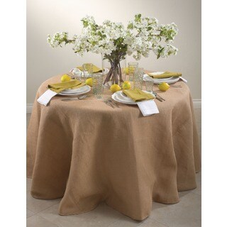 Round Burlap Tablecloth (More options available)