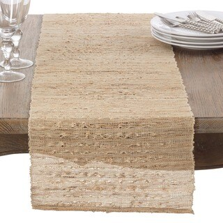 Woven Nubby Natural Table Runner
