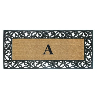 Link to Wrought Iron Monogrammed Rubber/ Coir Door Mat (2' x 4'9) - 24 x 57 Similar Items in Decorative Accessories