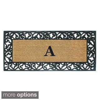 Exceptionnel Wrought Iron Monogrammed Rubber/ Coir Door Mat (2u0027 X 4u00279)