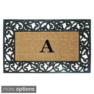 Wrought Iron Monogrammed Coir/ Rubber Doormat