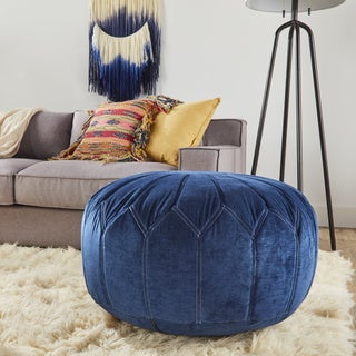 The Curated Nomad Aptos Round Pouf Ottoman (2 options available)
