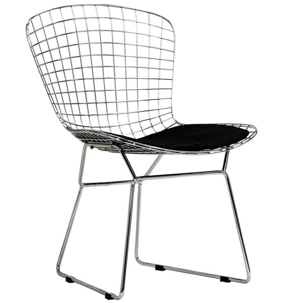 Bertoia Style Chair cushioned aluminum bertoia style dining chair - free shipping