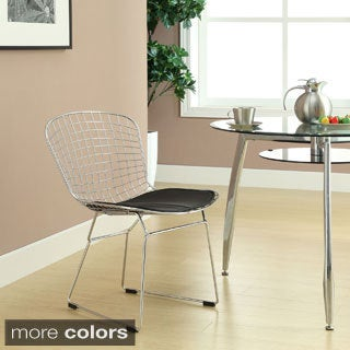 Cushioned Aluminum Bertoia Style Side Chair