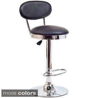 Black Vinyl Retro Adjustable Bar Stool