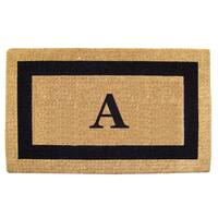 Heavy-duty Coir Single Picture Frame Monogrammed Black Doormat - 38 x 60