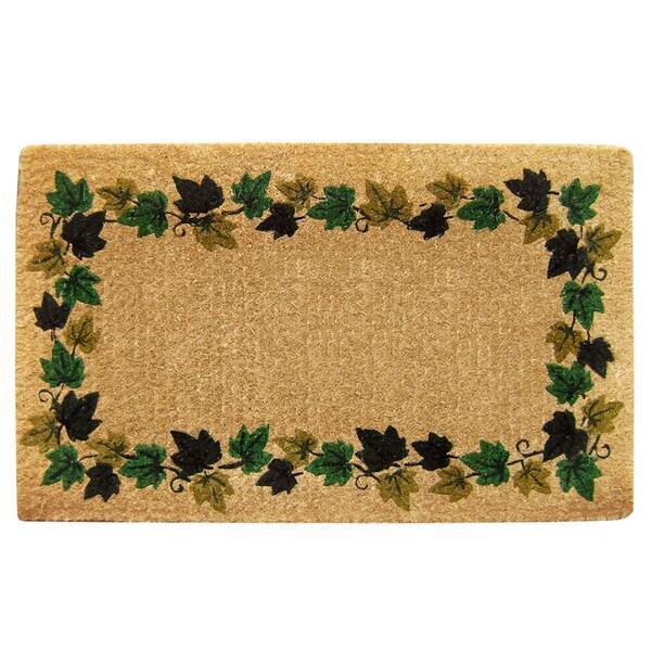 Heavy Duty Coir Decorative Vine Border Doormat