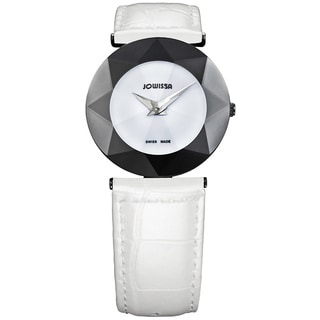 Jowissa Women's Facet White Leather Watch