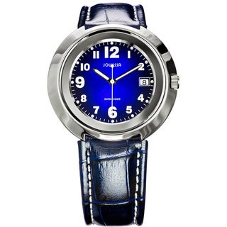 Jowissa Women's Pegasus Blue Leather Date Watch