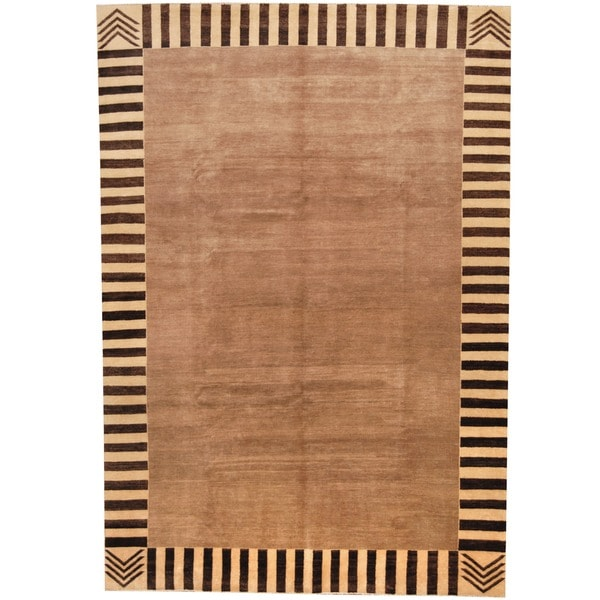 Herat Oriental Afghan Hand-knotted Vegetable Dye Wool Rug - 6'8 x 9'9