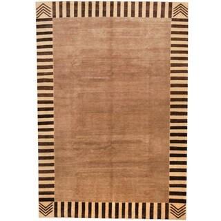 Herat Oriental Afghan Hand-knotted Vegetable Dye Wool Rug (6'8 x 9'9)