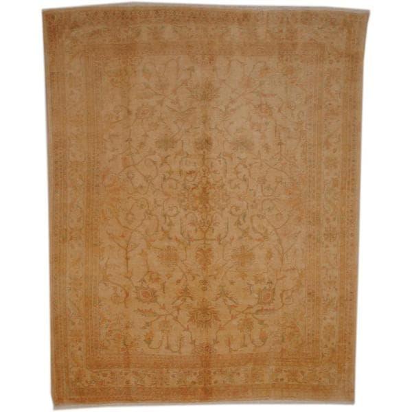 Handmade Herat Oriental Afghan Vegetable Dye Wool Rug - 7'7 x 9'6 (Afghanistan)