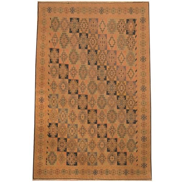 Herat Oriental Afghan Hand-woven Soumak Wool Kilim (6'7 x 10') - 6'7 x 10'