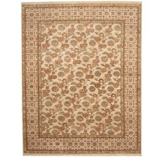 Herat Oriental Indo Hand-knotted Vegetable Dye Wool Rug (8' x 10')