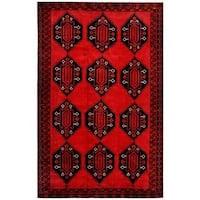Herat Oriental Afghan Hand-knotted Tribal Balouchi Wool Rug (8'2 x 12'10)