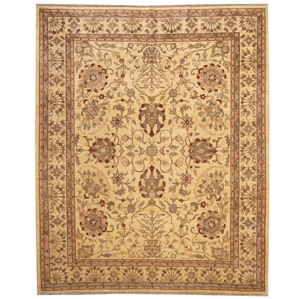 Herat Oriental Afghan Hand-knotted Vegetable Dye Wool Rug (8' x 10') - 8' x 10'