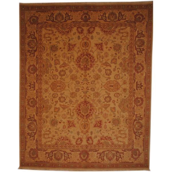 Herat Oriental Afghan Hand-knotted Vegetable Dye Wool Rug (8' x 10') - 8' x 10'