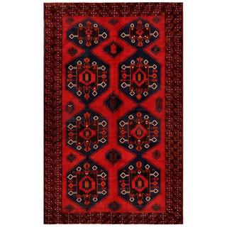 "Handmade One-of-a-Kind Balouchi Wool Rug (Afghanistan) - 6'3"" x 10'"