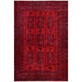 Herat Oriental Afghan Hand-knotted Tribal Balouchi Wool Rug (6'3 x 9'3)