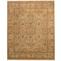 Handmade Herat Oriental Indo Vegetable Dye Wool Rug  - 8' x 10' (India)