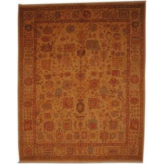 Herat Oriental Afghan Hand-knotted Vegetable Dye Wool Rug (8' x 10')